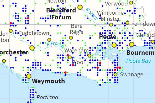 Distribution map: Small Copper