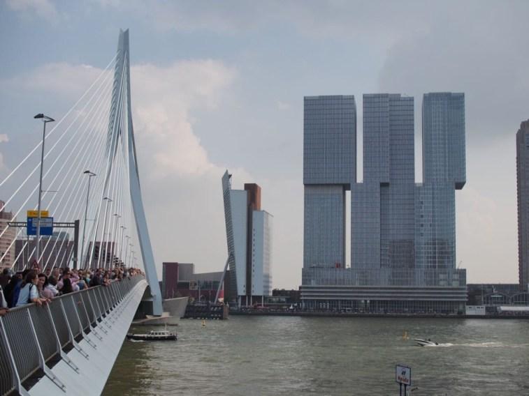 Erasmus Bridge with the Rotterdam