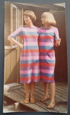 Lene og Dorte 1977. 23 og 22 år