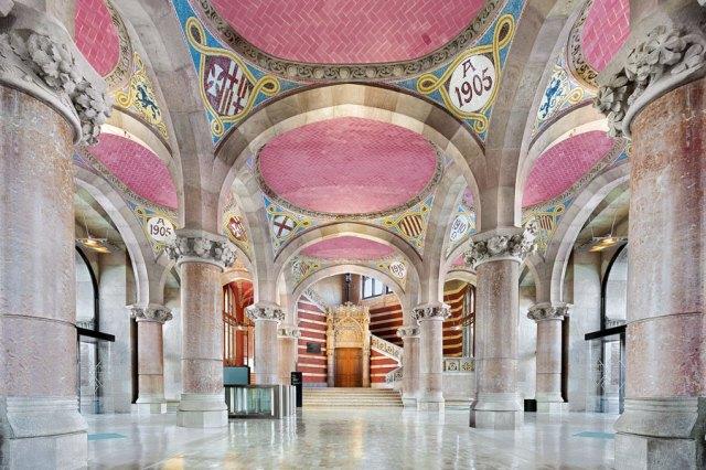 Interior del Hospital de Sant Pau, en Barcelona