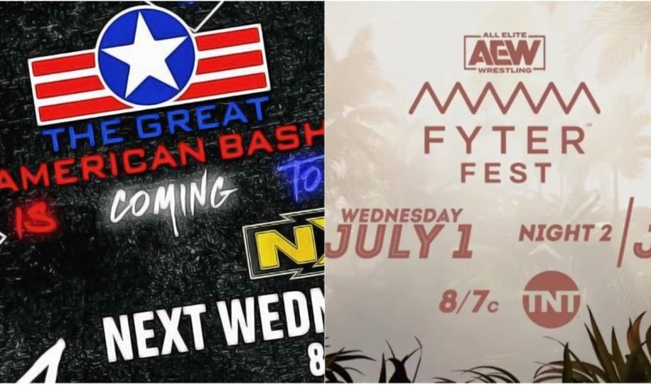The Great American Bash vs Fyter Fest: NXT y AEW tiran toda la carne al asador