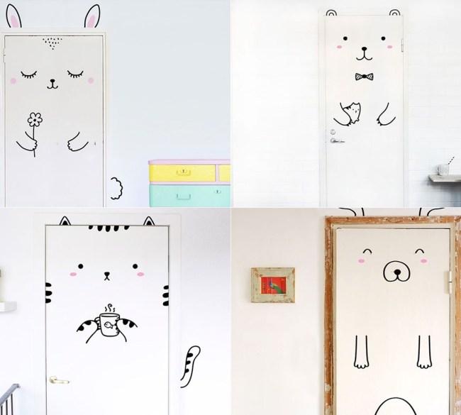 ideias-de-decoração-portas-fofas