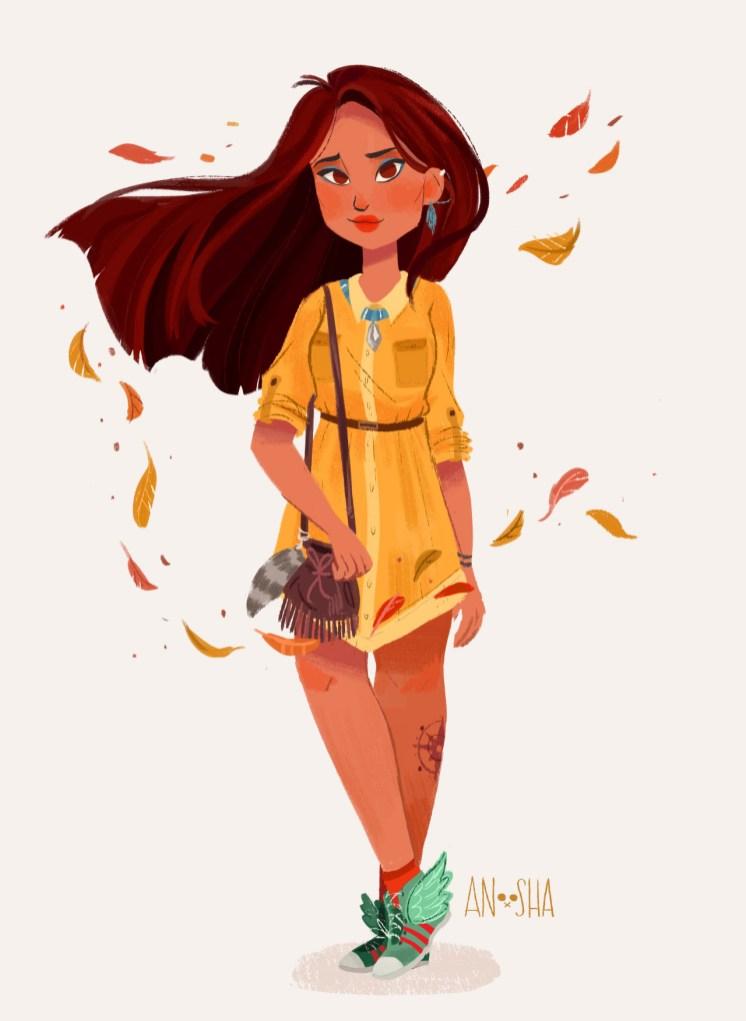 ilustração-anoosha-Pacahontas