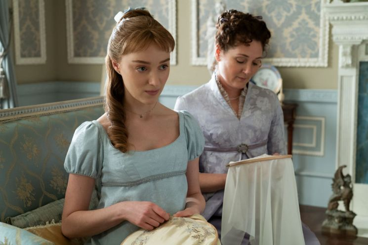 Phoebe Dynevor como Daphne Bridgerton. ©Cortesia da Netflix.