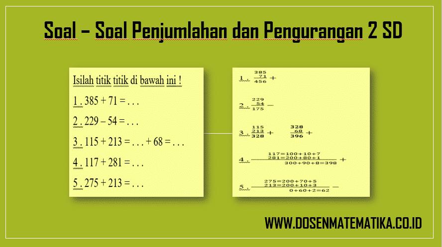 Buku ini bermanfaat untuk melatih kemampuan dasar matematika. Soal Soal Penjumlahan Dan Pengurangan 2 Sd