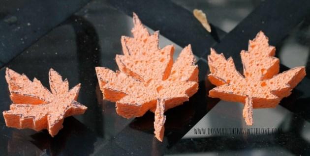 leaf sponge stamping 1