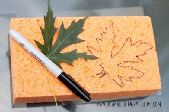 leaf sponge stamping