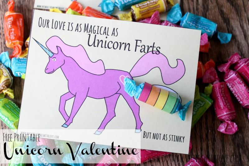 Unicorn Valentines Free Printable Do Small Things With