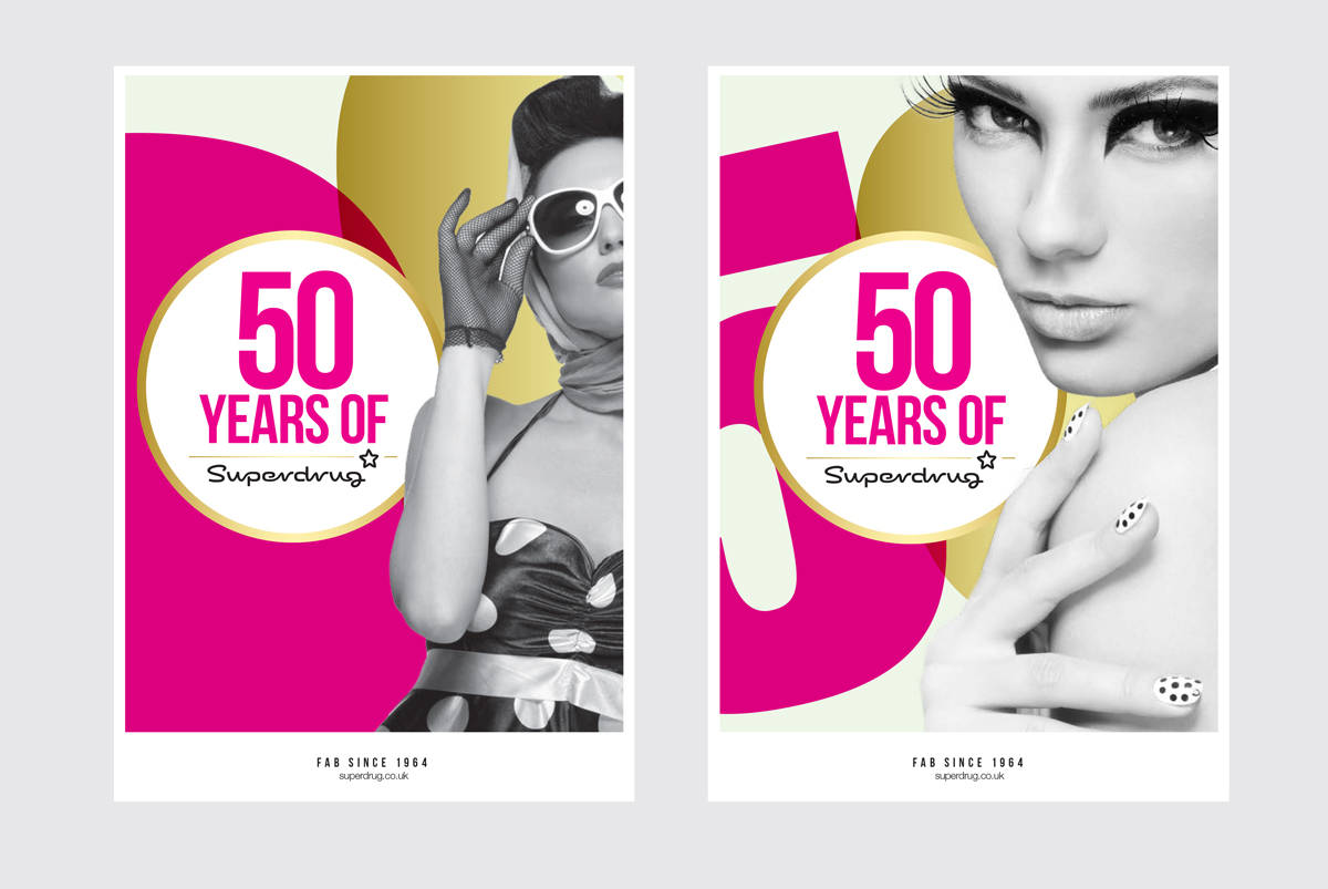 Superdrug 50 Years Do Some Work