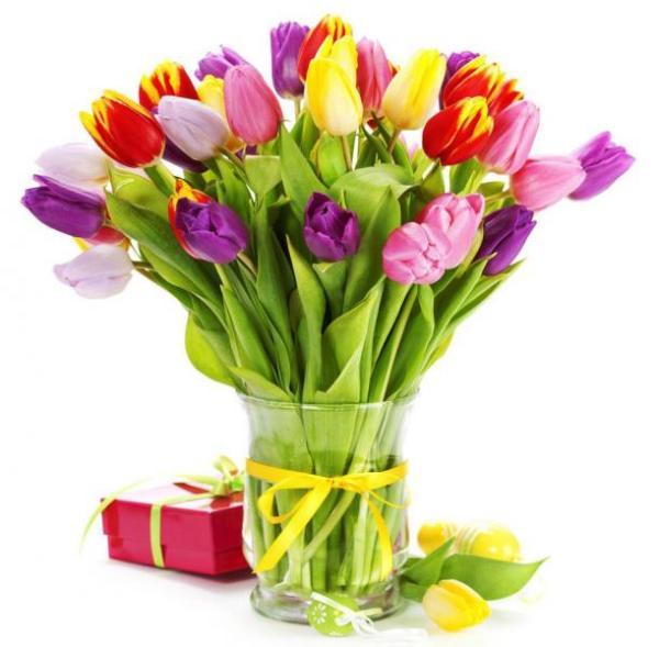 Открытка в букет цветов
