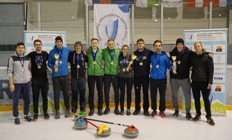 curlingu, državno univerzitetno prvenstvo v curlingu, dup, curling, Team Erazmus, finale,
