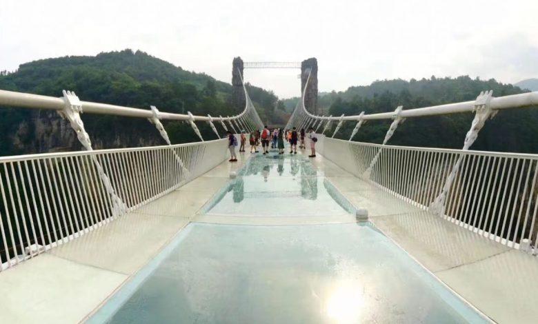 steklenih, Steklen zaboj, Stekleni most, Most, Skywalk, steklo, Zhangjiajie