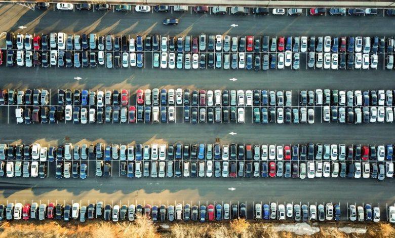 Nakupovalni center, avtomobil, supermarket, parkirišče, gneča, parkirni prostor, parkirno mesto