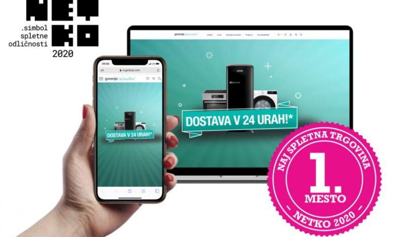Netko, dosežek, spletna trgovina, nagrada, splet, spletnih strani, spletna stran, Gorenje Slovenija,