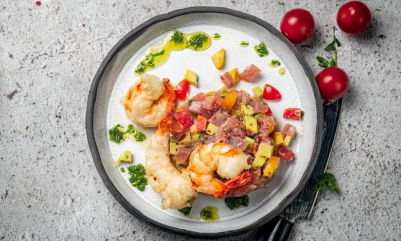 Mala kuhna, tuna, ceviche, tempura, recept, sestavine, Andrej Vindiš, kako pripraviti tuno, kako narediti tuno,