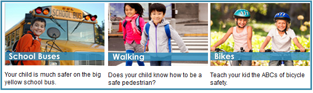 Collage of photos from NHTSA Parents Central website