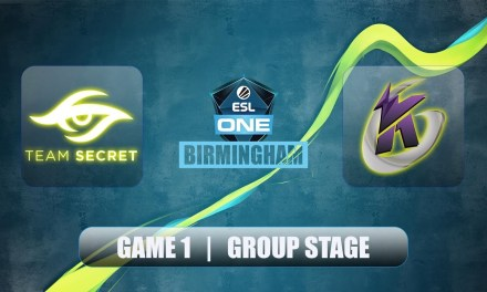 SECRET vs KG | ESL One Birmingham | Group Stage Bo2 Game 1
