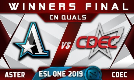 Aster vs CDEC WB Final CN ESL One Hamburg 2019 Highlights Dota 2