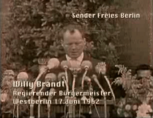 Willy Brandt am 17.6.1962