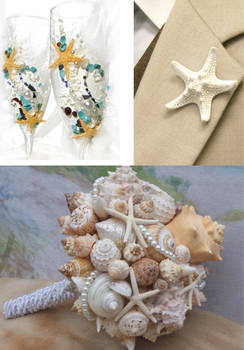Starfish Wedding Theme Ideas And Cake Topper Dot Com Women
