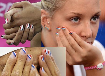 French Flag Nail Art At The 2017 London Olympics