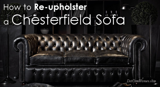 how to re upholster a chesterfield sofa