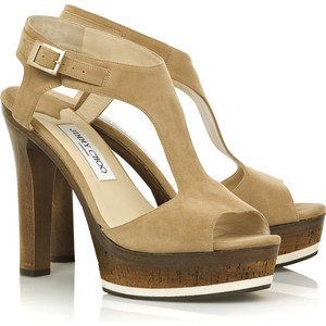 Jimmy Choo wooden platforms