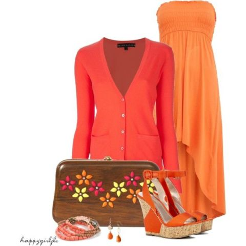 Colorful Outfit Idea using a Wooden Clutch