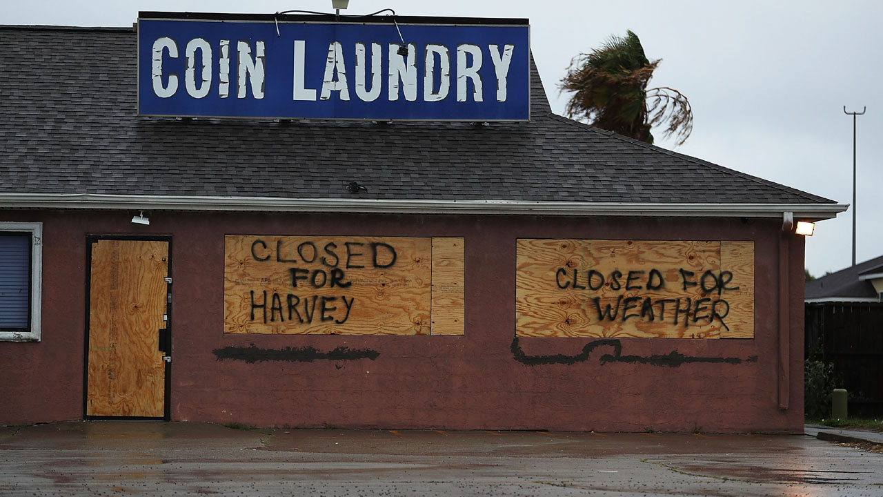 Laundry boarded up for Harvey23067704-159532