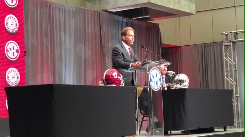 VIDEO: Alabama head coach Nick Saban says he expects Jalen Hurts will be on the roster