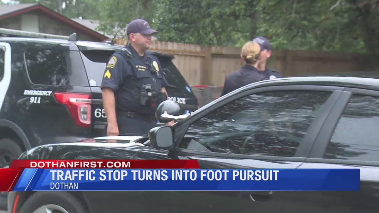 Traffic Stop Turns to Foot Pursuit