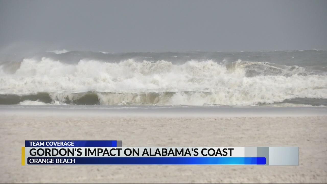 Gordon's impact on Alabama's coast