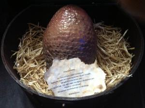 A hand-crafted dragon egg.