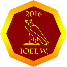 2016 Golden Owl Winner Joel W.