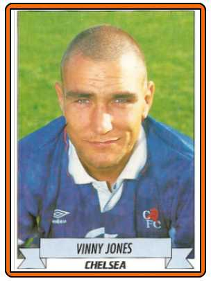 VINNIE JONES - Panini CHLSEA FC Sticker 1992-1993