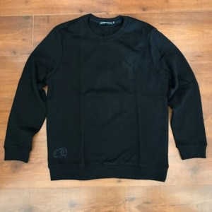 Chrome Hearts Black cotton round neck sweater