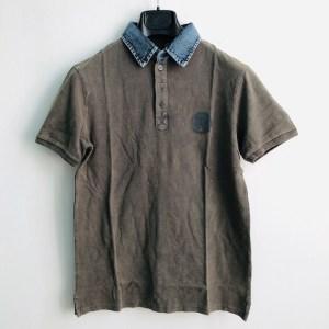 "DSL ""Denim collar"" golf t-shirt - Khaki - dot made"