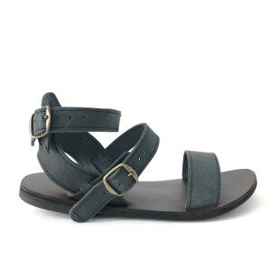 HULM Grey Genuine Leather sandals