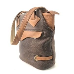 HULM Brown Genuine leather hand bag
