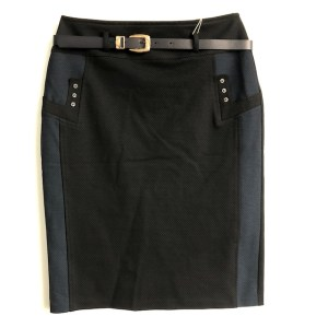 Glow Collection blue & Black midi skirt