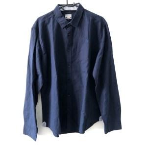 Diesel navy blue long sleeve casual shirt