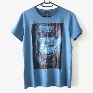 Diesel blue short sleeve round neck t-shirt