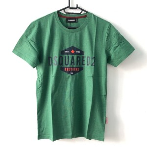 DSQUARED2 Green Short sleeve round neck t-shirt
