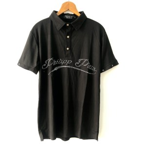 Philipp Plein Black short sleeve golf t-shirt