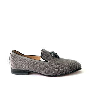 Versace Grey slip-on formal shoes