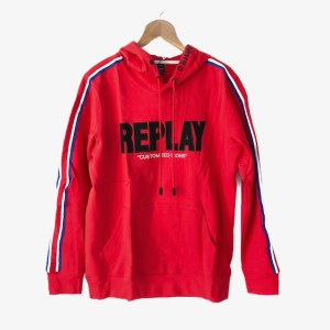 """REPLAY """"Customized icons"""" red hoodie - dot made"""