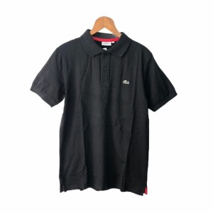 LACOSTE Black short sleeve golf t-shirt