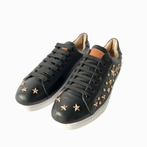 BALLY Black Low top golden stars sneakers