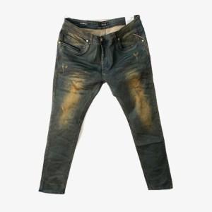 REPLAY HyperFlex Blue Yellow slim stretch denim jeans