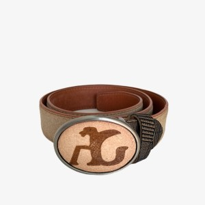 "Angelo Galasso ""Scotch trim"" belt - Brown - dot made"